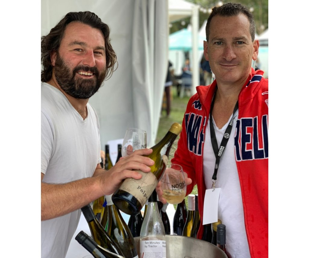 Polperro Wine tasting with Sam Coverdale and Travis Schultz at Noosa Food and Wine Festival